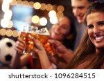 group of friends watching... | Shutterstock . vector #1096284515