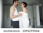 happy loving couple of adults... | Shutterstock . vector #1096295066