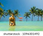 woman in luxury five stars  spa ... | Shutterstock . vector #1096301492