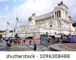 rome  italy   june 10  2016  ... | Shutterstock . vector #1096308488