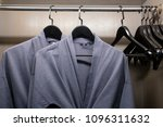 twins bathrobe  security safe... | Shutterstock . vector #1096311632