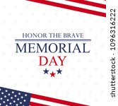 happy memorial day greeting... | Shutterstock .eps vector #1096316222