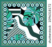 silk scarf with stripe and... | Shutterstock .eps vector #1096318172
