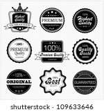 vector set of premium quality... | Shutterstock .eps vector #109633646