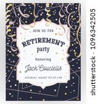 retirement party invitation.... | Shutterstock .eps vector #1096342505