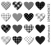 scrapbook hearts on white... | Shutterstock .eps vector #1096343672