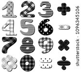 scrapbook numbers on white... | Shutterstock . vector #1096345106