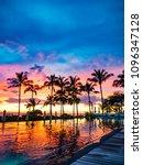 hawaii honolulu pool side... | Shutterstock . vector #1096347128