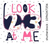 look at me slogan with... | Shutterstock .eps vector #1096347356