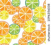 seamless pattern with oranges... | Shutterstock .eps vector #1096356038