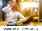 beautiful young redhead woman... | Shutterstock . vector #1096356812