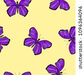 seamless pattern with violet... | Shutterstock .eps vector #1096364096