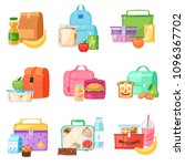 lunch box vector school... | Shutterstock .eps vector #1096367702