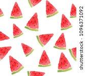 seamless summer watercolor... | Shutterstock . vector #1096371092