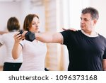 older man workout at the gym... | Shutterstock . vector #1096373168