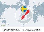 world map centered on america...   Shutterstock .eps vector #1096373456