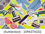 vector eighties fashion... | Shutterstock .eps vector #1096376102