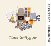 time to hygge vector... | Shutterstock .eps vector #1096376678