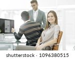 young employee of the company...   Shutterstock . vector #1096380515