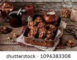 chocolate  corn flake and... | Shutterstock . vector #1096383308