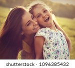 happy enjoying mother hugging... | Shutterstock . vector #1096385432