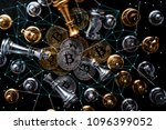 crypto currency bitcoin with... | Shutterstock . vector #1096399052