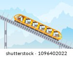 color image of the funicular... | Shutterstock .eps vector #1096402022