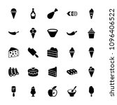 tasty icon. collection of 25...   Shutterstock .eps vector #1096406522