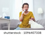 fur trouble. young sick... | Shutterstock . vector #1096407338