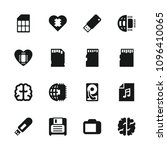 memory icon. collection of 16... | Shutterstock .eps vector #1096410065