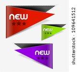 set of sign new label design... | Shutterstock .eps vector #109641512