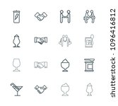 shake icon. collection of 16... | Shutterstock .eps vector #1096416812