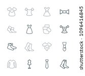 garment icon. collection of 16... | Shutterstock .eps vector #1096416845