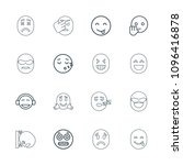 expression icon. collection of... | Shutterstock .eps vector #1096416878