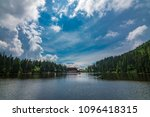 mummelsee in black forest  ... | Shutterstock . vector #1096418315