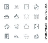 residence icon. collection of...   Shutterstock .eps vector #1096420556