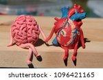 plasticine human brain and... | Shutterstock . vector #1096421165