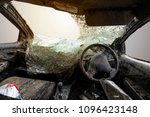 car accident down the road has... | Shutterstock . vector #1096423148