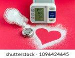 salt and blood pressure ... | Shutterstock . vector #1096424645