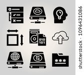 filled interface 9 vector icons ...