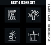 outline money 4 vector icons...