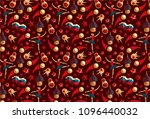 russian pattern wallpaper ... | Shutterstock .eps vector #1096440032