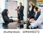multicultural business people... | Shutterstock . vector #1096440272