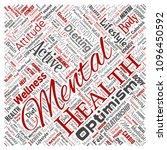 vector conceptual mental health ... | Shutterstock .eps vector #1096450592