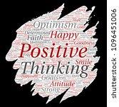 vector conceptual positive... | Shutterstock .eps vector #1096451006