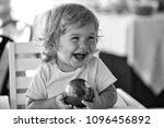 happy kid having fun. laughing... | Shutterstock . vector #1096456892