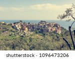 picturesque village rising... | Shutterstock . vector #1096473206