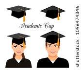 university graduate students....   Shutterstock .eps vector #1096474346