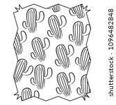 cactus plant pattern | Shutterstock .eps vector #1096482848
