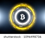 golden bitcoin cryprocurrency... | Shutterstock .eps vector #1096498736